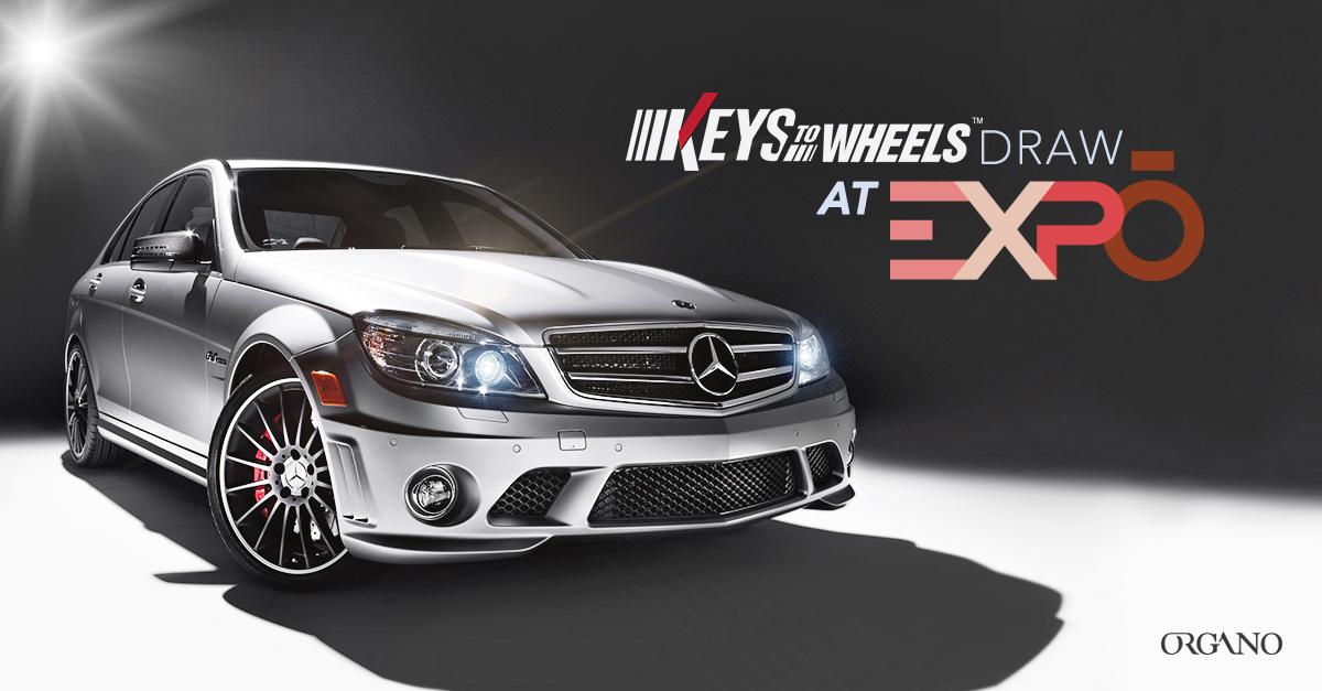 Win a free mercedes benz with organo keys to wheels draw for Win a mercedes benz