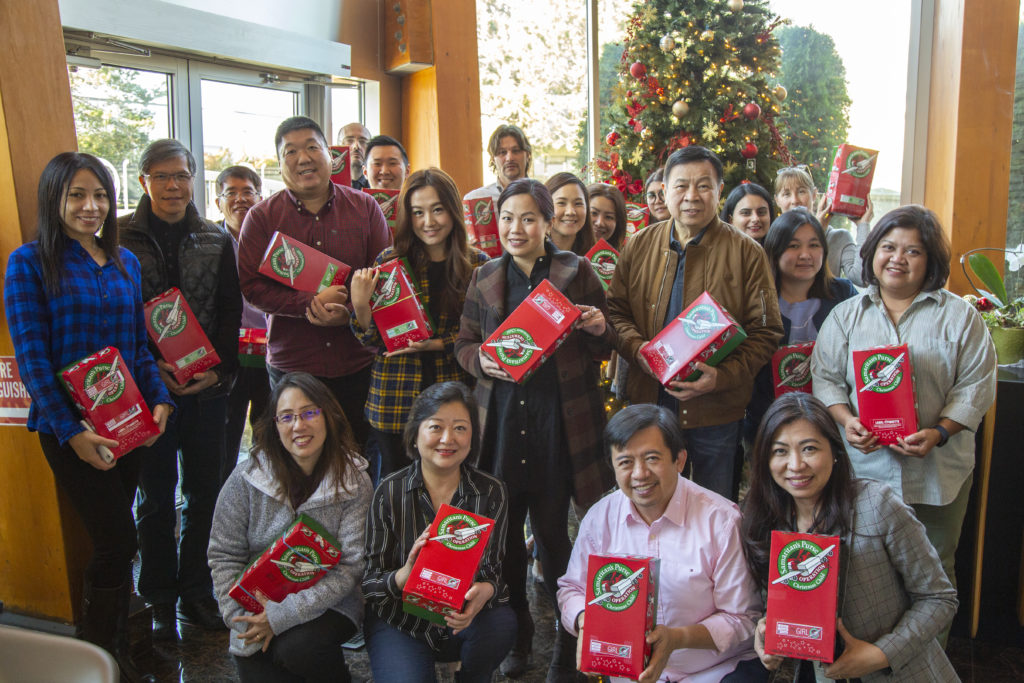 Operation Christmas Child at the OG Headquarters!