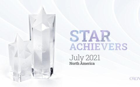 organo star achiever July 2021 north america